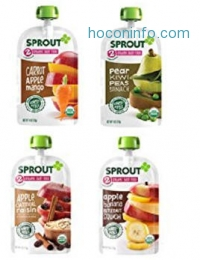 ihocon: Sprout Organic Baby Food Pouches, Stage 2 Sprout Baby Food, Peach Banana Quinoa Raisin, 4 Ounce (Pack of 5)