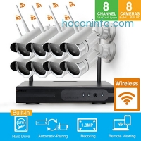 ihocon: HD 960P Smart Remote Auto-Pair WiFi Security Camera System 8 Channel NVR Kits居家防盜監視系統