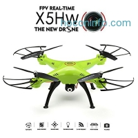 ihocon: REALACC 四軸空拍機X5HW WIFI FPV Quadcopter With Camera 2.4G 4CH 6Axis High Hold Mode Remote Control Toy Quadcopter Drone RTF Mode 2