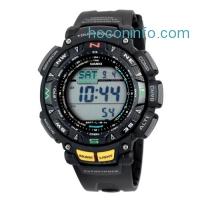 ihocon: Casio卡西歐 Pro Trek Men's PAG240-1CR Pathfinder Triple Sensor Sport Resin Watch