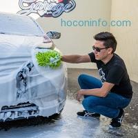 ihocon: Chemical Guys MIC_493 Chenille Microfiber Premium Scratch-Free Wash Mitt, Lime Green洗車手套