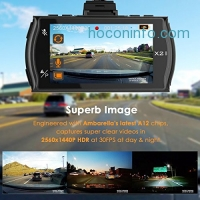 ihocon: Vantrue X2 Dash Camera 170° Wide Angle with G-Sensor, Parking Monitor行車記錄器