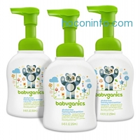 ihocon: Babyganics Alcohol-Free Foaming Hand Sanitizer, Fragrance Free, 8.45oz Pump Bottle (Pack of 3)無酒精無香精潔手消毒泡沫
