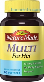 ihocon: Nature Made Multi for Her Softgels - 23 Essential Vitamins & Minerals 60 Ct