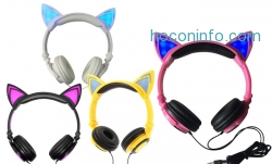 ihocon: Jamsonic DJ-Style Light-Up Cat-Ear Headphones
