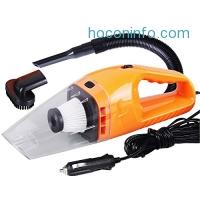 ihocon: Car Vacuum Cleaner, DC 12-Volt 120W Wet&Dry Handheld Auto Vacuum Cleaner (Orange)