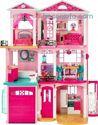 ihocon: Barbie® DreamHouse® Playset with 70+ Accessory Pieces 芭比夢幻屋