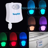 ihocon: Toooptek Motion Activated LED Toilet Seat Night Light with 8 Color Changing動作感應馬桶座夜燈