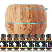 ihocon: ArtNaturals Aromatherapy Essential Oil and Diffuser Set - Top 8 - Peppermint, Tee Tree, Rosemary, Orange, Lemongrass, Lavender, Eucalyptus, & Frankincense