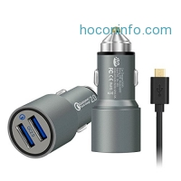 ihocon: JDB Dual Quick Charge 2.0 USB Car Charger +  3Ft Micro USB Cable 快速汽車充電器及電線