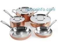 ihocon: Cuisinart  HCTP-8W Hammered Copper Set (8-Piece)