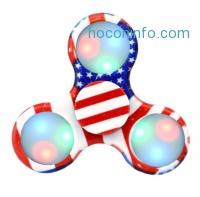 ihocon: LED Flag Design Fidget Hand Tri-Spinner指尖陀螺