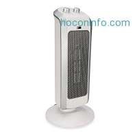 ihocon: Crane USA Heaters - White Personal Ceramic Mini Tower Heater Space heater tip over protection 2 Settings Overheat Protection Cool Touch 1500 Watt / 750 Watt Warming Heater Fan