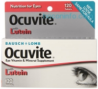 ihocon: Bausch & Lomb Ocuvite Vitamin & Mineral Supplement Tablets with Lutein, 120-Count Bottles (Pack of 2)護眼維生素+葉黃素