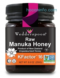 ihocon: Wedderspoon 100% Raw Premium Manuka Honey KFactor 16+, 8.8 Ounce麥盧卡蜂蜜