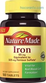 ihocon: Nature Made Iron 65 mg Tablets 180 ea