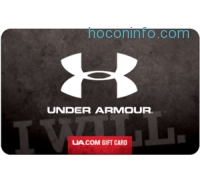 ihocon: $100 Under Armour Gift Card只賣$90 - Via Fast Email delivery