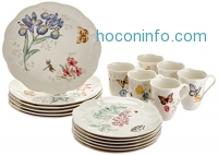 ihocon: Lenox Butterfly Meadow 18-Piece Dinnerware Set, Service for 6