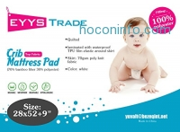 ihocon: Waterproof Ultra Soft Baby Crib Mattress Pad Protector防水嬰兒床保護罩