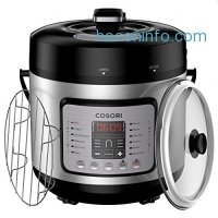 ihocon: COSORI Electric Pressure Cooker 7-in-1 Multi-Functional, Digital Stainless Steel Steam Rice Slow Cookware, 6 Quart/1000W