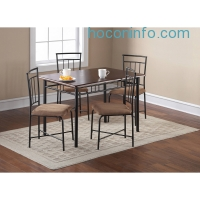 ihocon: Mainstays 5-Piece Wood and Metal Dining Set, Multiple Colors