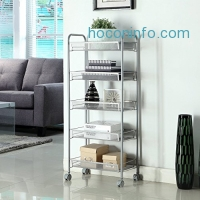 ihocon: Homfa 5-Tier Mesh Wire Rolling Cart 五層有輪金屬置物架