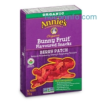 ihocon: Annie's Organic Bunny Fruit Snacks, Berry Patch, 5 Pouches, 4 oz. Each (Pack of 4)