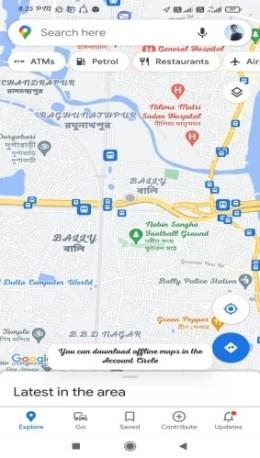 google map live navigation