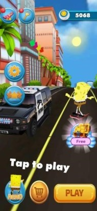 sponge subway endless run games