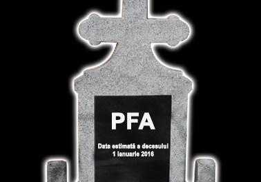 Încă un calup de limitări pentru PFA