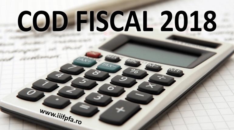 Cod Fiscal 2018 PFA