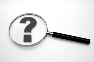 Magnifying glass - question mark