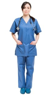 Full length portrait of a young smiling nurse