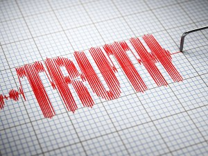 lie detection test - telling the truth vs living a lie