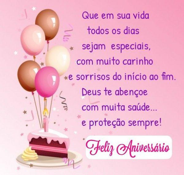 Feliz aniversário com a proteção de Deus