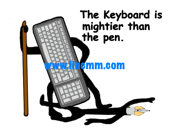 The keyboard is mightier than the pen3