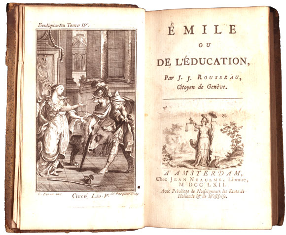 Image result for rousseau emile