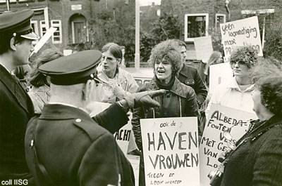 Dutch dockers' wives during 1979 strike