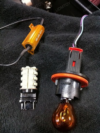 Chevy Camaro Switchback 3157 LED Turn Signal Light Bulbs 4