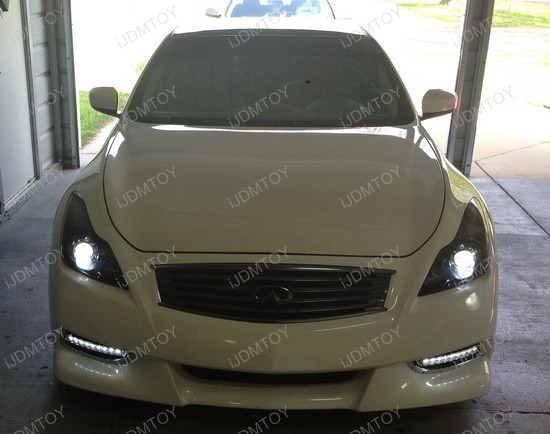 Infiniti G37 Bumper LED Daytime DRL Lights 1
