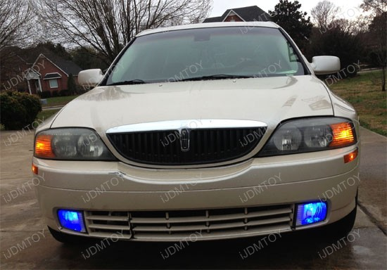 Lincoln LS Blue LED H10 Fog Light Bulbs 1
