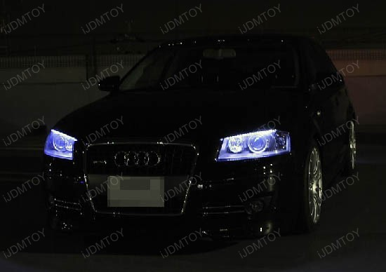 JDM Audi A5 Q7 Style Xenon White Side Shine 48-LED Flexible LED Strip Lights For Headlight Lamps