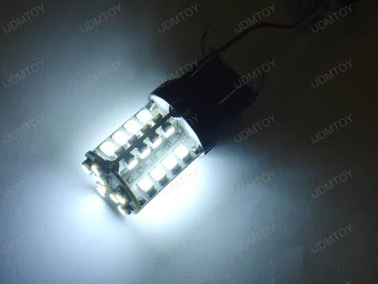 JDM Super Bright Xenon White 40-SMD T25 3156 (aka 3056) or 3157 (aka 3057) LED Indicator Corner/Blinker Brake Tail light bulbs