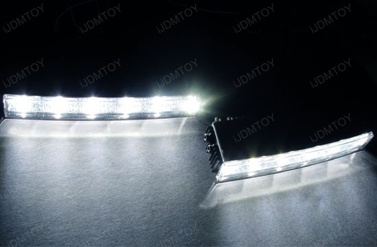 Xenon White Hella Style 5-LED High Power LEDayLine LED Daytime Running Light (DRL) Lamps