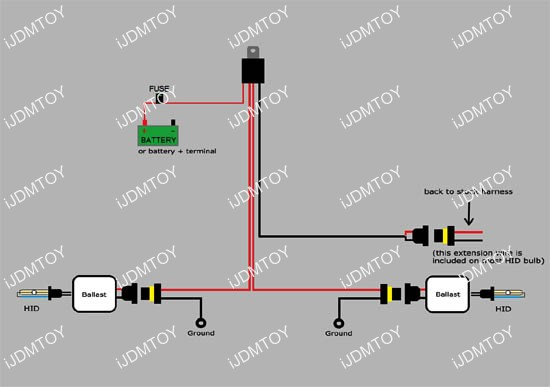 HID relay 01?resize=550%2C387 trailer plug wiring diagram 7 pin uk best wiring diagram 2017,Trailer Plug Wiring On Socket 7 Pin 12s