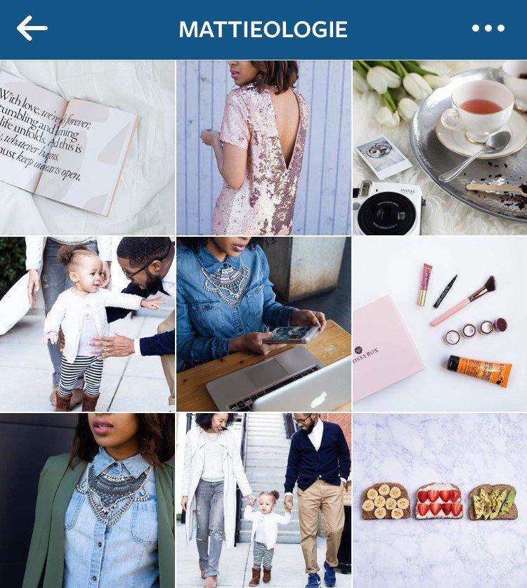 Pretty Instagram feed Mattieologie