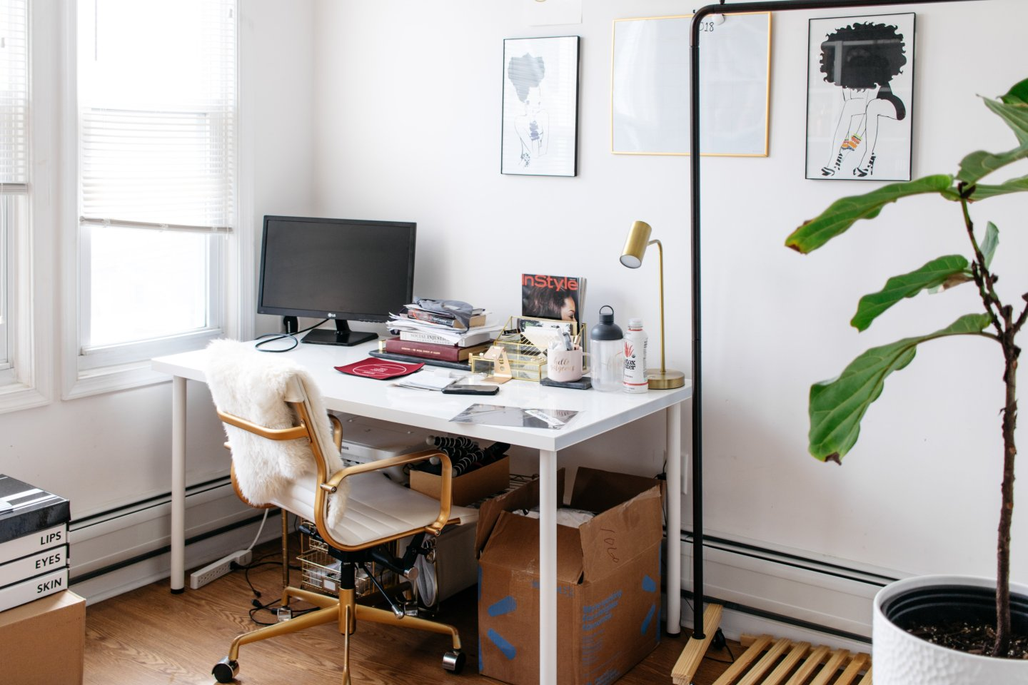 Home Office to Guest Bedroom Makeover - Office Before