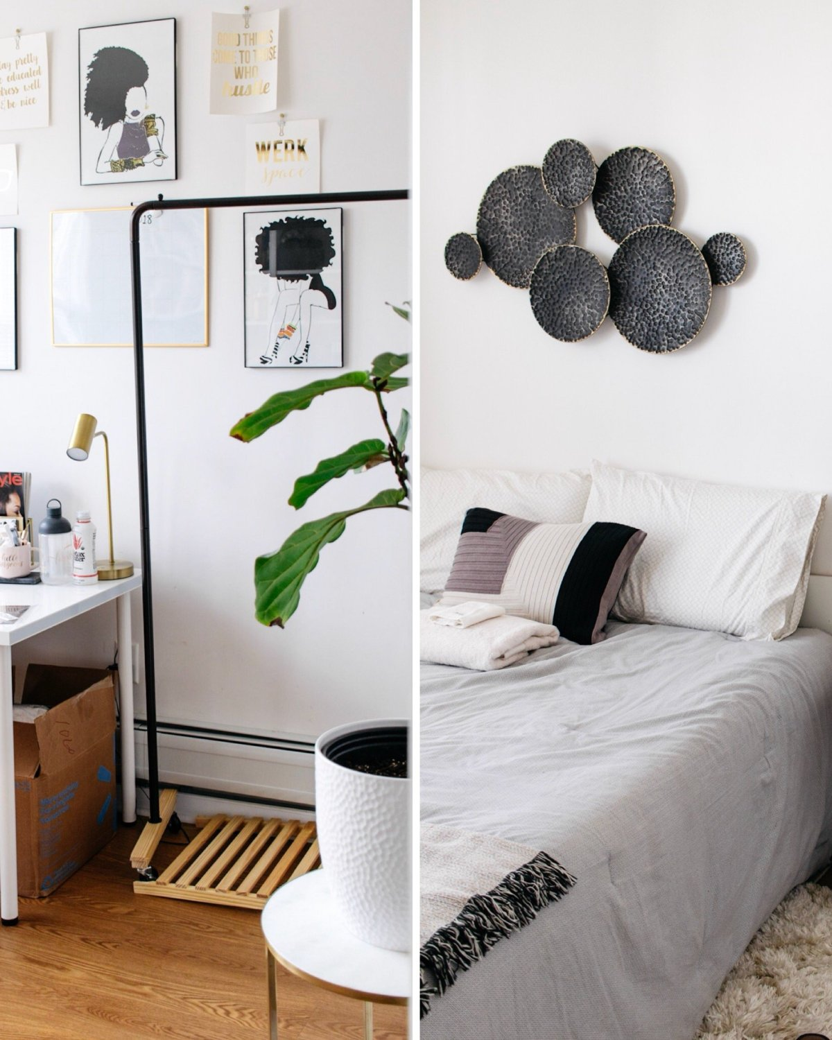 Home Office to Guest Bedroom Makeover Under $300 | Ijeoma Kola
