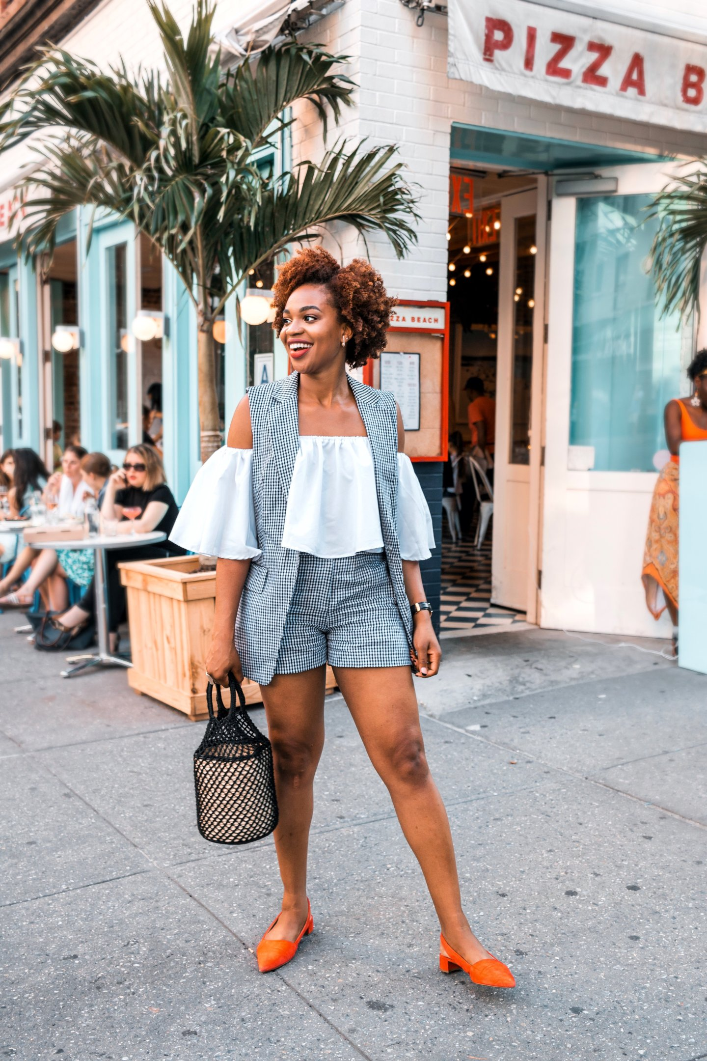 Michael Kors Linen Gingham Shorts and Vest | Ijeoma Kola
