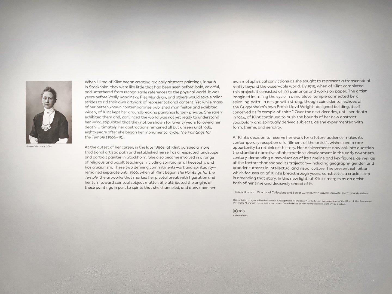 Hilma af Klint at the Guggenheim